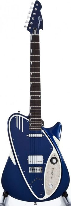 J. Backlund Guitars have the coolest, wildest, and classiest designs I've ever seen.  This blue beauty here is actually one of the more conservatively shaped instruments in the catalogue.  Each Art Deco inspired guitar would be right at home in an episode of the Jetsons.  Visit http://www.jbacklund.com/ and prepare to have your six-string-loving mind blown away.