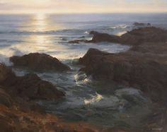 Asilomar Sunset by Laurie Kersey Oil ~ 24 x 30