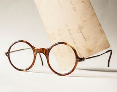 Antique eye glasses spectacles reading glasses brown by SovietEra, $17.00