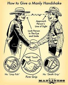 A Manly Handshake - poztag.com