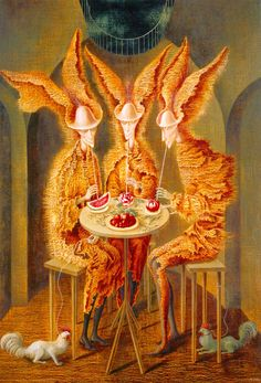 Vegetarian Vampires - Varo, Remedios (Spainsh, 1908 - Fine Art Reproductions, Oil Painting Reproductions - Art for Sale at Galerie Dada Art Watercolor, Surrealism Painting, Painting Art, Illustration, Oil Painting Reproductions, Art Design, Surreal Art, Aesthetic Art, Dark Art