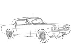 Classic Mustang Sketch