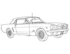 Classic Mustang Sketch
