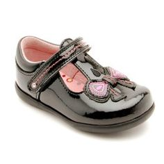 Scilla Black Patent First Walking Girls Shoes