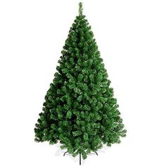 Naisidier 6Ft18m Artificial Christmas Tree PVC Green Xmas Decor Tree with 750 Branches and Metal Stand Leg >>> Click for Special Deals #ChristmasTree