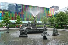 Place Jean-Paul-Riopelle Fountain,  Montreal by Montreal Photo Daily