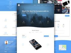 CUBE Landing Page by Stanislav Khoruzhenko #Design Popular #Dribbble #shots