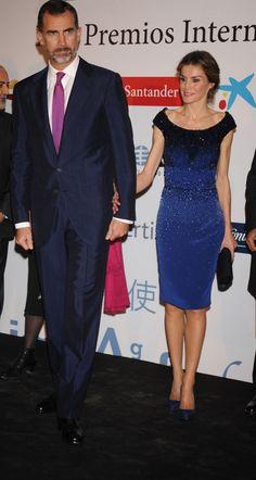 Felipe y Letizia, a su llegada a este evento periodístico.