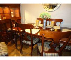 Ethan Allen British Classics Dining Table U0026 Chairs ~ My Table Exactly, My  Chairs Similar