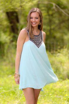 Seize The Day Dress-Mint - $46.00
