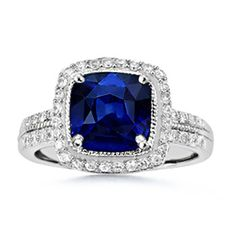 The Vogel Cushion Ring, Beautiful Sapphire Ring