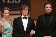 """Colin Firth Photos Photos - Actor Colin Firth (R), actress Rachel Blanchard and actor Kevin Bacon (L) attend a screening of 'Where the Truth Lies' at the Grand Theatre during the 58th International Cannes Film Festival May 13, 2005 in Cannes, France. - Cannes - Premiere of """"Where the Truth Lies"""""""