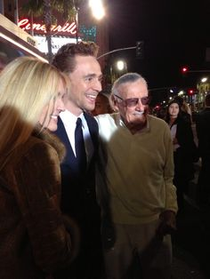Twitter / YahooMovies: Epic meeting: @ twhiddleston and @TheRealStanLee! #ThorTDWLive