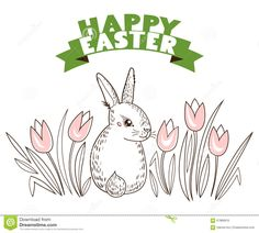 https://thumbs.dreamstime.com/z/greeting-card-white-easter-rabbit-tulips-flowers-funny-bunny-hand-draw-sketch-vector-illustration-67889916.jpg