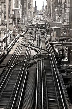 Train tracks on Chicago Loop