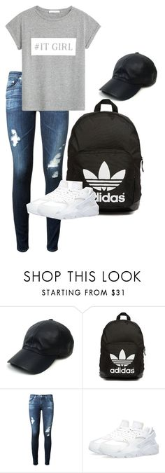 """""""Untitled #43"""" by ahmya-artis on Polyvore featuring Vianel, adidas Originals, AG Adriano Goldschmied, MANGO, women's clothing, women's fashion, women, female, woman and misses"""
