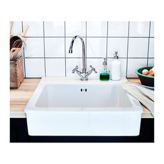 DOMSJÖ Fregadero de 1 seno IKEA 25 años de garantía. Consulta las condiciones generales en el folleto de garantía.