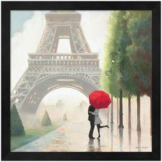 Metaverse Art Paris Romance II Framed Wall Art ($90) ❤ liked on Polyvore featuring home, home decor, wall art, black, eiffel tower home decor, black home decor, paris home decor, paris wall art and vertical wall art