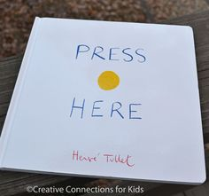 """""""Press Here"""" is clever, unique, and magical! An ALL TIME favorite. With marble and painting activities to connect to the story too. Creative Connections for Kids Un livre at CPL Preschool Literacy, Preschool Books, Early Literacy, Literacy Activities, In Kindergarten, Activities For Kids, Painting Activities, Activity Ideas, Action Story"""