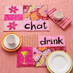 Quilt welcoming place mats sure to impress your guests and please your family.