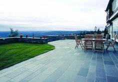 Offerdalsskiffer sågad, kalibrerad B. Landscape Design, Sidewalk, Deck, Patio, Garden, Outdoor Decor, Inspiration, Image, Home Decor