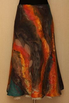 The new spiral / Felted Clothing / Skirt. $350.00, via Etsy.