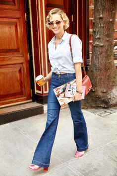 How They Do It On The Streets: Double Denim #refinery29