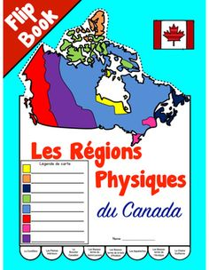 map of Canada with regions labeled Geography quiz