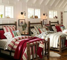 I love the idea of having a guest bedroom like this. Especially during the holiday season!