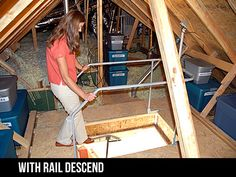 THIS IS A SIMPLE LIFT I MADE FOR MY GARAGE ATTIC. IT COST ME UNDER $200.00  FOR PARTS. I LIST THE PARTS AND WERE I BOUGHT THEM. THE LIFT MEASURES 23u2026