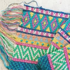 Impatiently waiting for a yarn delivery so I can finally finish this blanket version of my Vivo cushion pattern Crochet Pouf Pattern, Motif Mandala Crochet, Crochet Cushions, Crochet Pillow, Tapestry Crochet, Hippie Crochet, Crochet Home, Knit Crochet, Pillows