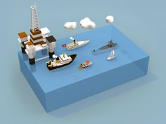 Lac Léman #3d #lowpoly Isometric Art, Isometric Design, Game 2d, Low Poly 3d, Game Concept, Inspirational Artwork, Graphic Illustration, Illustrations, City Style