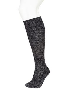 Cozy marled socks peeking out of your favorite Fall boots lend a chic finishing touch to a chilly day look. Spoiler alert: you're going to want one in every color. lanebryant.com