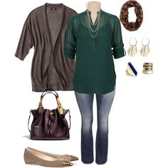 plus size sunday out, created by kristie-payne on Polyvore