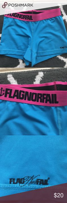 Flag no fail shorts Flag no fail shorts. Small. Blue & pink. There is wear on the outside such as pilling. See pictures. In good condition. Using Nike for exposure! Nike Shorts