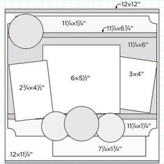 "12x12"" Scrapbook Page Sketches 301-330"