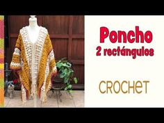 Crochet Patterns Chunky Crochet CHUNKY poncho in two rectangles with wool and crochet / . Crochet Girls, Newborn Crochet, Crochet Woman, Crochet Baby Hats, Crochet Beanie, Crochet Shawl, Crochet Clothes, Free Crochet, Poncho Knitting Patterns