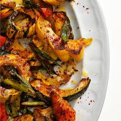 Veggies: Roasted Squash with Lemon-Tahini Sauce
