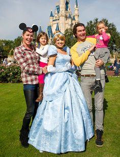 Rebecca Romijn and hubby Jerry O'Connell helped twins Charlie and Dolly celebrate their fourth birthday Dec. 28, 2012 with a visit to Walt #Disney World in Orlando, Fl