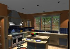 This busy 3D render of a busy family kitchen was created using 20:20 Technologies' Fusion with its integrated Lightworks rendering engine. It's the little details in this image that make it come to life.