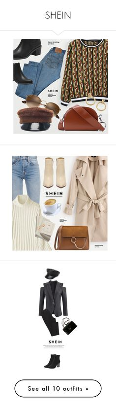 """SHEIN"" by monmondefou ❤ liked on Polyvore featuring Levi's, Ruslan Baginskiy, Chanel, Calvin Klein 205W39NYC, Proenza Schouler, MyFaveTshirt, Acne Studios, Gucci, Ted Baker and Steve Madden"
