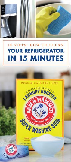 With the holidays coming up, you'll have plenty of leftovers and dishes filling your fridge. To combat the combination of odors—and to get your home one step closer to getting ready for house guests—check out  ARM & HAMMER™ Super Washing Soda and this guide for How to Clean your Refrigerator in 15 Minutes! Who knew natural household cleaning hacks could be so powerful?!