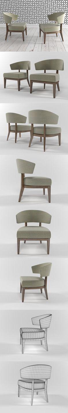 Lenie armchair by Walraven design. 3D Furniture