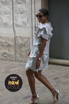 The beauty of creating your own personalized wardrobe is the ability to allow yourself to experiment. When I use to shop for clothes, I… Diy Dress, Ruffle Dress, Dress Ideas, Ruffles, African Shirt Dress, Black Fashion Bloggers, Mother Daughter Fashion, Shift Dress Pattern, Make Your Own Clothes