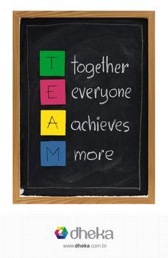 Valorizar a colaboração é essencial para a dheka! Porque trabalhar em equipe contribui para qualidade, produtividade e compartilhamento de conhecimento. A colaboração permite que se alcance um desempenho melhor do que os indivíduos agindo isoladamente e é capaz de produzir mais do que a soma individual das partes.
