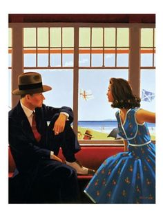 Edith and the Kingpin by Jack Vettriano. Massive range of art prints, posters & canvases. Quality UK framing & Money Back Guarantee! Jack Vettriano, Oil Painting For Sale, Paintings For Sale, Modern Paintings, Figure Painting, The Singing Butler, Framed Art Prints, Fine Art Prints, Morgana Le Fay