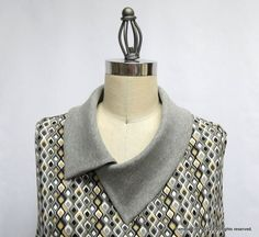 """Off The Cuff ~Sewing Style~: The """"Split Cowl Collar"""" Tutorial"""