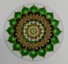 Mandala vitral Verde Cura 40cm