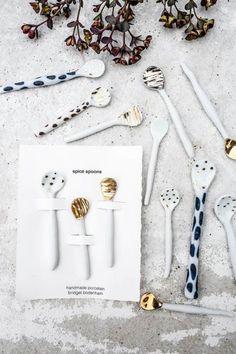 Bridget Bodenham ceramics - Spice spoons