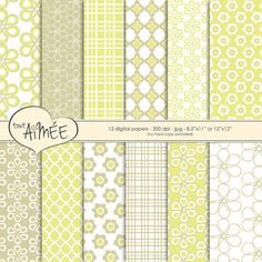 Digital Scrapbook Paper  Classic Graphic Flower & by ToutAimee $6.39